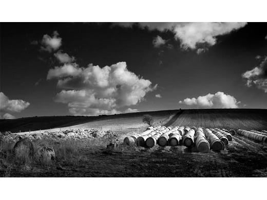 Jevington, Straw Bales, Sussex